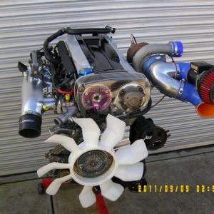 Holden VL Commodore RB30 Turbo Engine with Nissan RB26 Twin Cam Head
