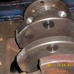 Adding Heavy Metal To Crank For Balancing. Engine Machining.