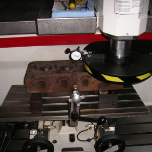 Machining the Gasket Face on a Ford Cleveland Head. [Engine Machining].