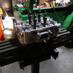 Straightening a Bent Cylinder Head. Engine Machining.