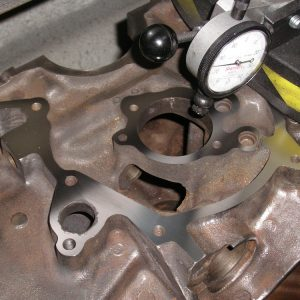 Timing Cover Face Being Machined on a Ford V8 Block.