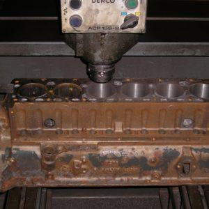Boring a Holden 138ci Grey Engine Block.