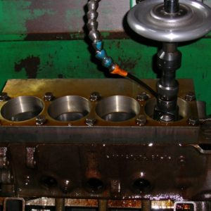 Chrysler Small Block being Torque Plate Honed.