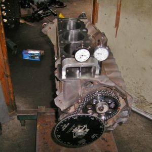 Degreeing a Camshaft in a Holden 355ci Stroker Engine.