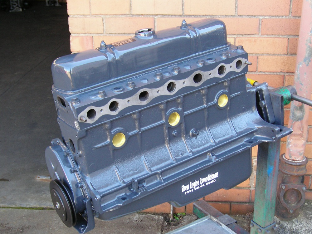 138 Grey 6 Cylinder Holden Engine.