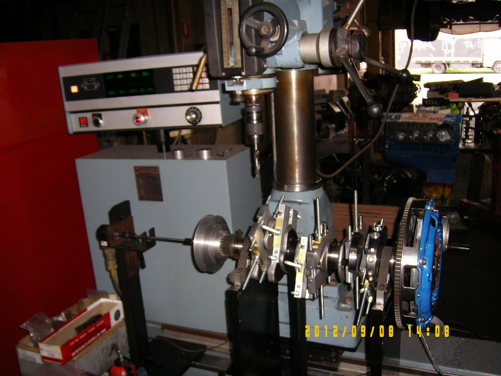 Balancing a V6 3000GT Crank. Engine Machining.