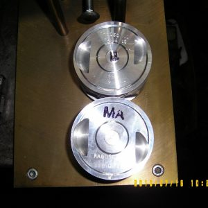 FlyCut Piston Valve Reliefs. Engine Machining.