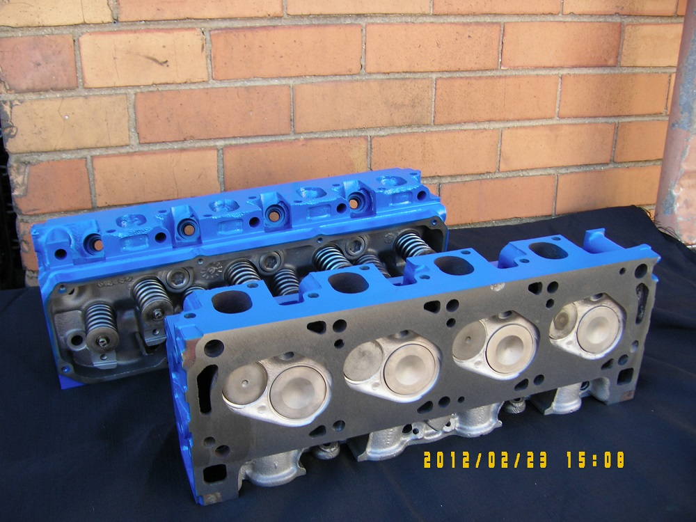 Ford 302 Cleveland Reconditioned Cylinder Heads.