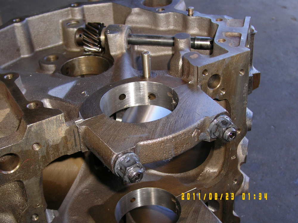 Holden 355 Stroker Block that has been Align Honed. Engine Machining.