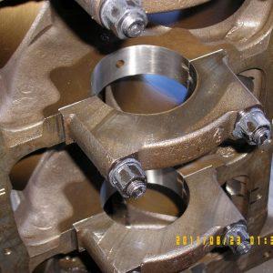 Line Honed V8 Block. Engine Machining.