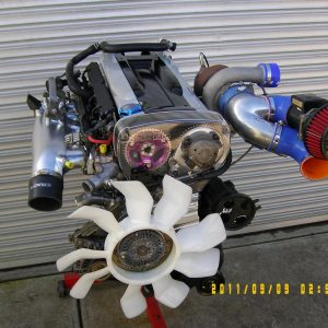 Nissan RB30 Turbo Engine {3.0L} With Nissan RB26 Twin Cam Head.