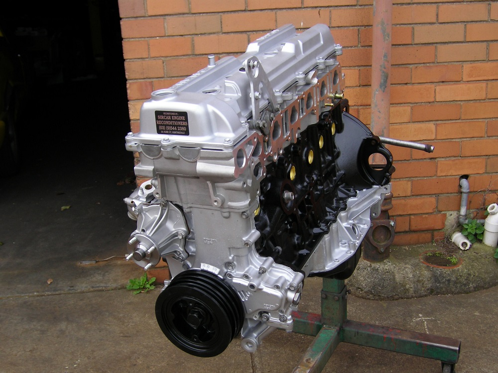 Toyota Landcruiser 1FZ-FE Engine.
