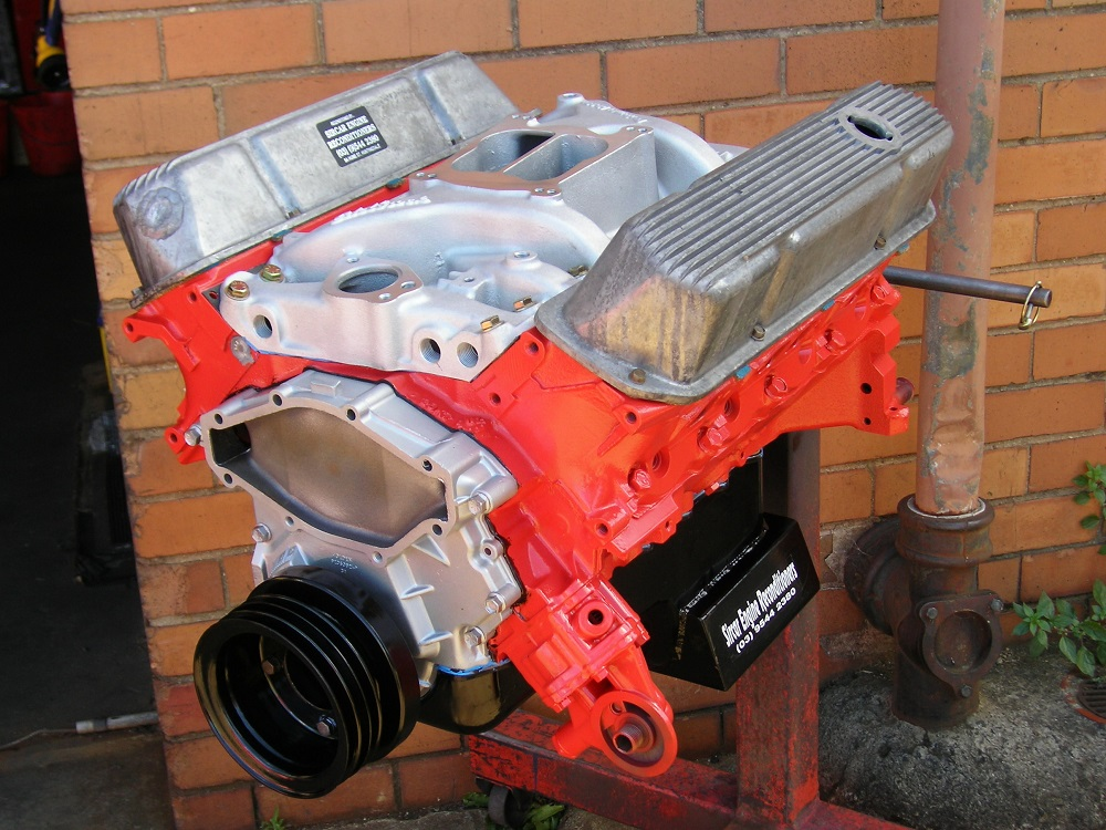 Holden 308 Stage 2 Engine plus an Edelbrock Intake.
