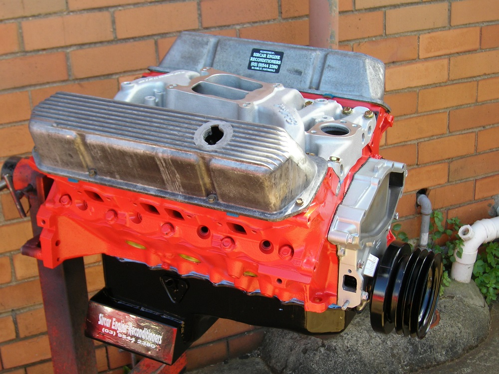 Holden 308 Stage 2 Sports Engine plus an Edelbrock Intake.