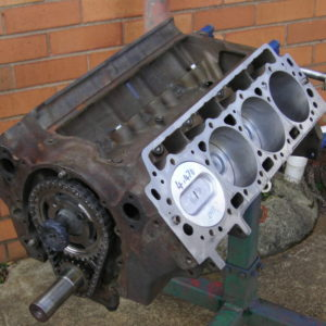 Cadillac 429ci Reco Short Motor with Cam - Unpainted. Cadillac Engines.