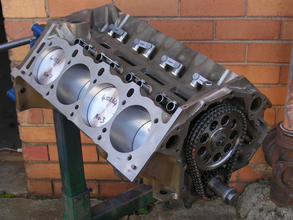 Holden 308 355 EFI Stroker. Note Bronze Lifter Bushes & Roller Lifters.