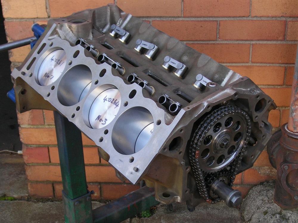 Holden 308 355 EFI Stroker. Note Bronze Lifter Bushes & Roller Lifters.