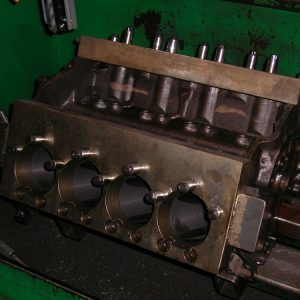 350 Chev Ready For Torque Plate Honing. [Engine Machining].