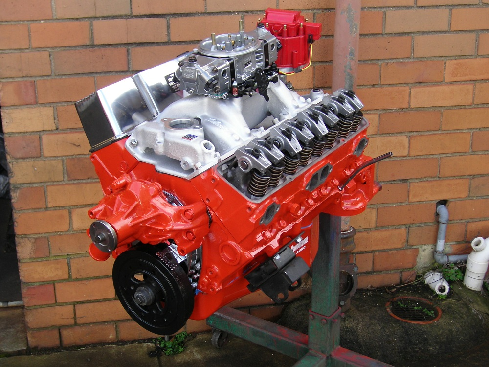 Chev 383 Stroker Engine. Stage 2+ with Accessories Fitted.