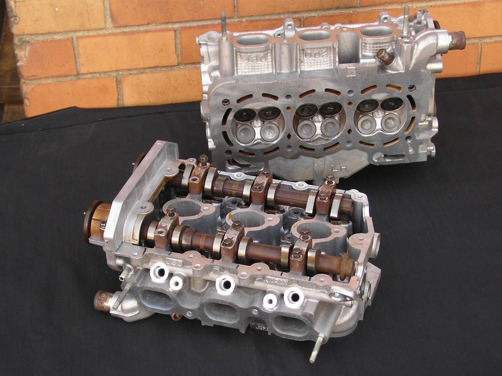 Subaru EZ30D V6 Heads Reconditioned.