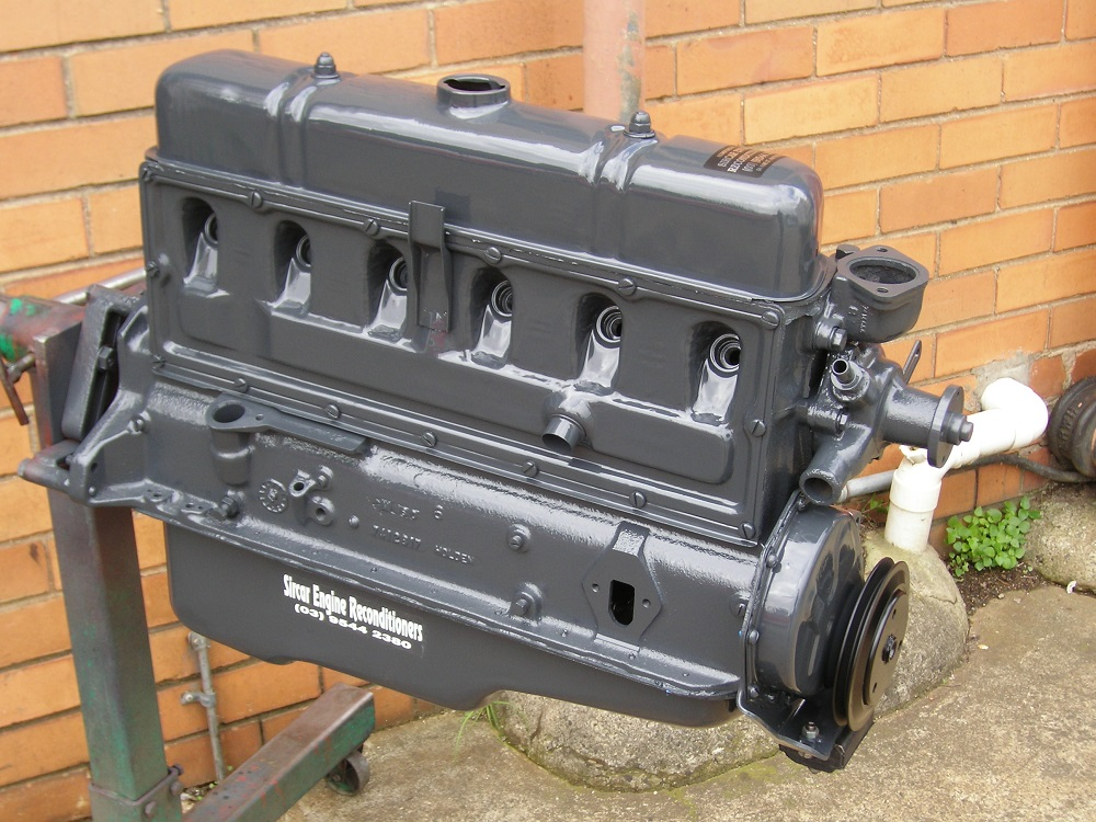 Holden 138 Grey Motor Reconditioned Shown With Some Accessories Fitted.