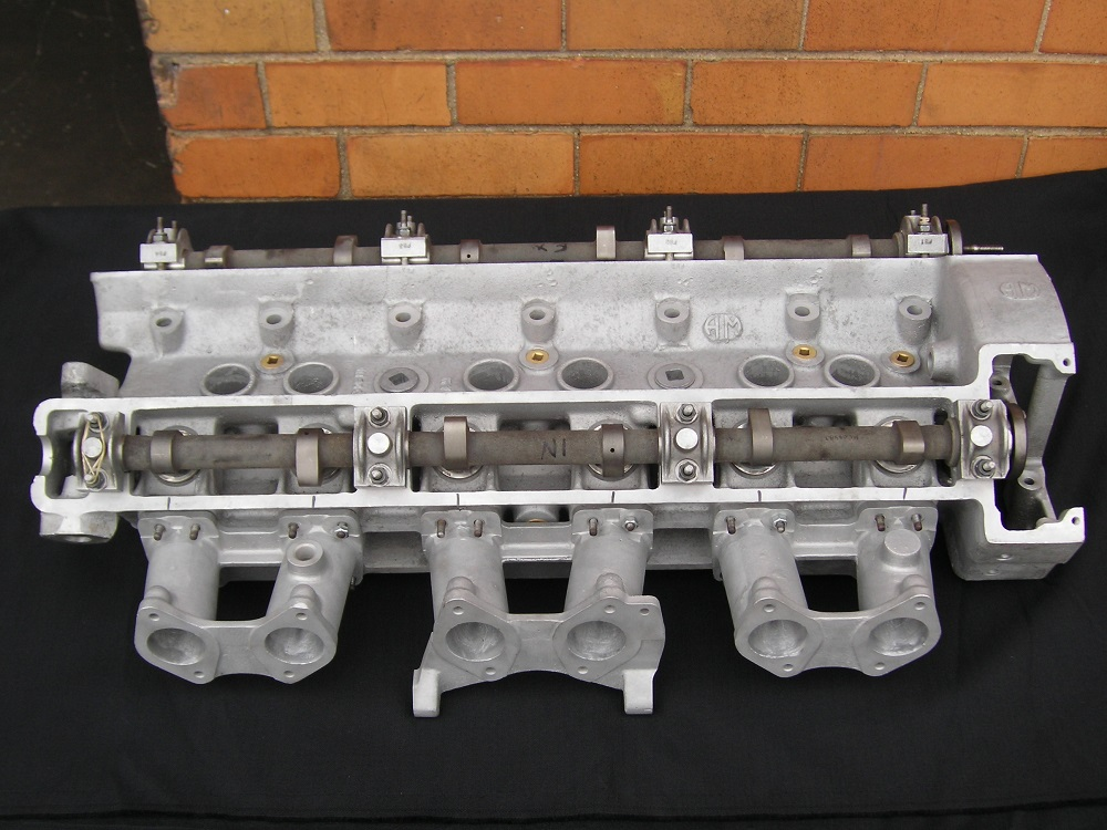 Aston Martin DB6  Heads Reconditioned. Shown with Hot Cams and Weber Inlet Manifolds Fitted.