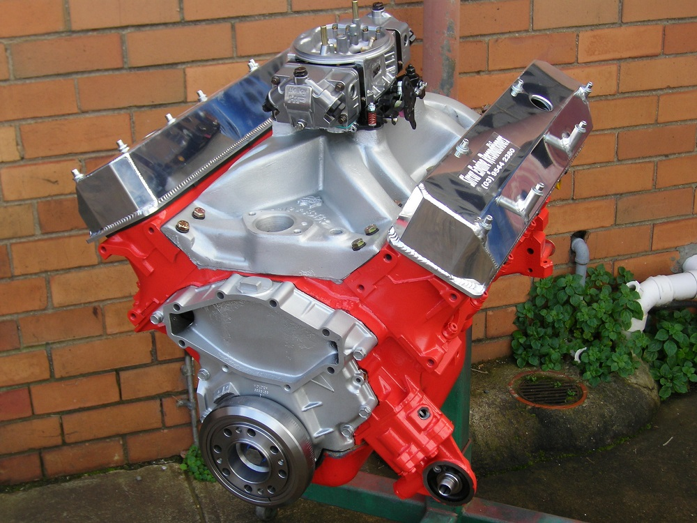 Holden 308 Circuit Racing Engine Shown with Temporary Standard Sump.