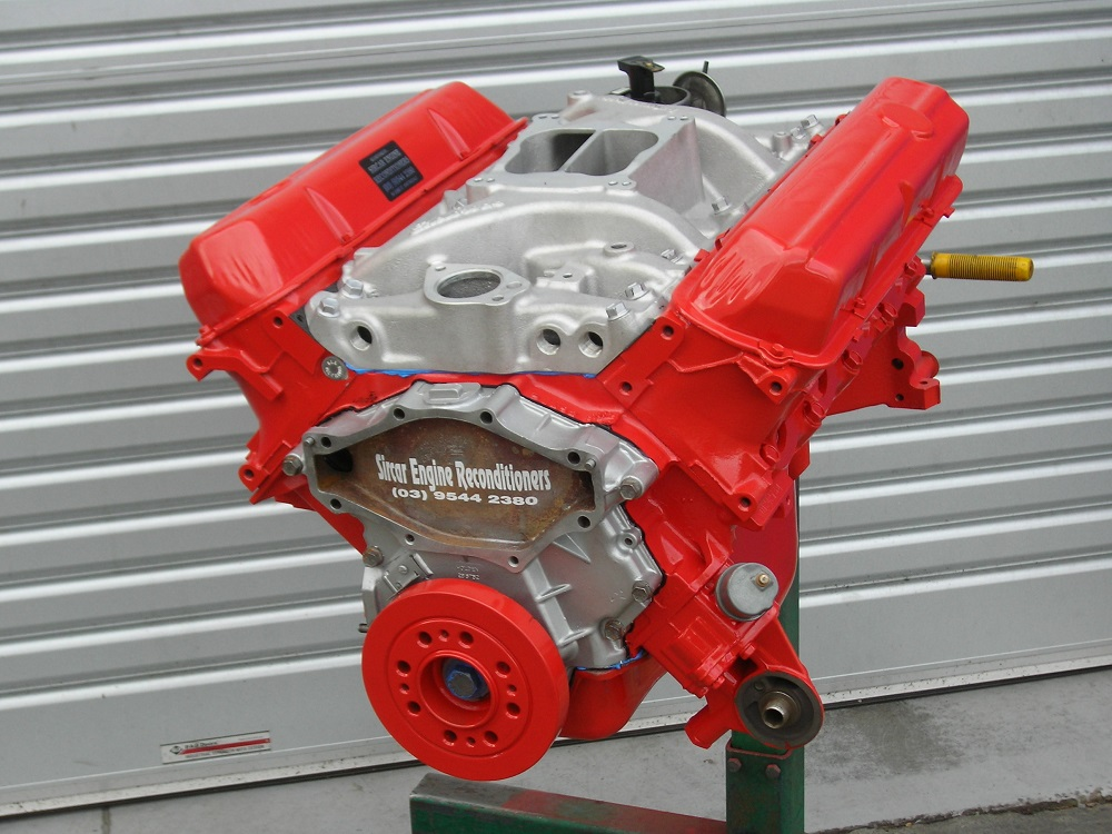 Holden 308 Stage 2 Long Motor with Edelbrock Inlet Manifold Fitted.