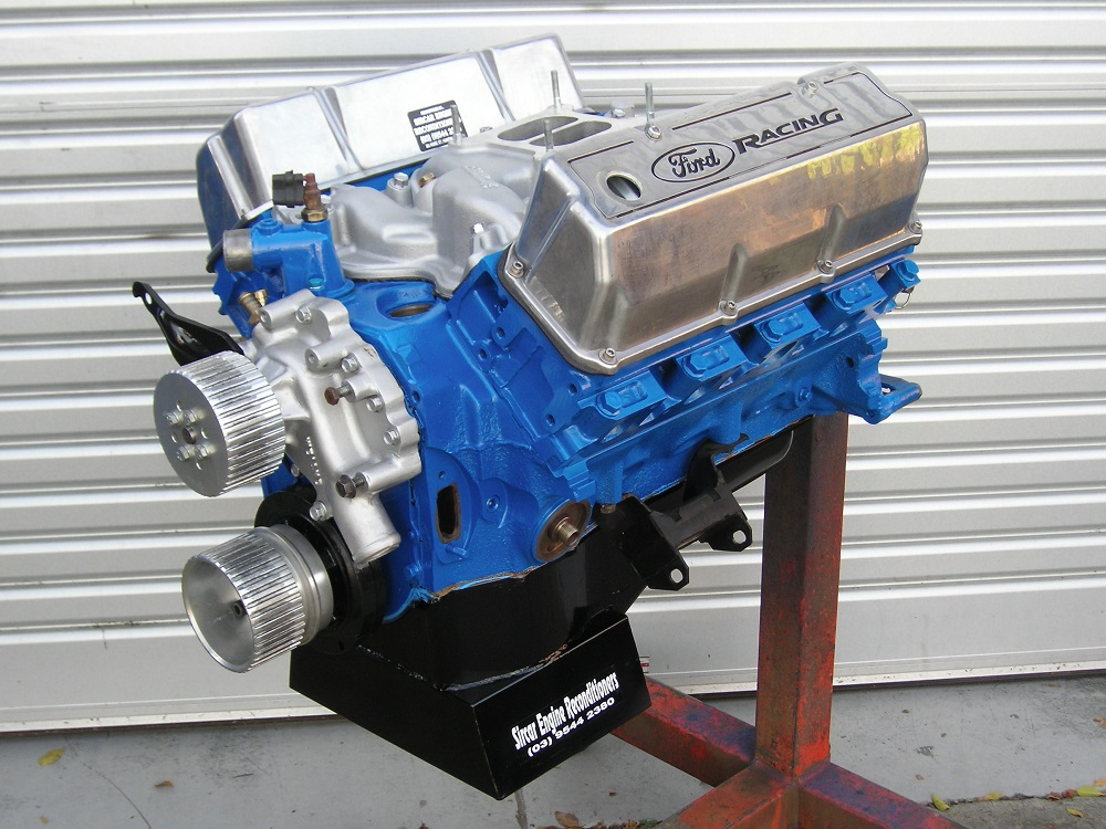 351 Cleveland Stage 2 Ford Engine. Shown with Some Accessories Fitted.