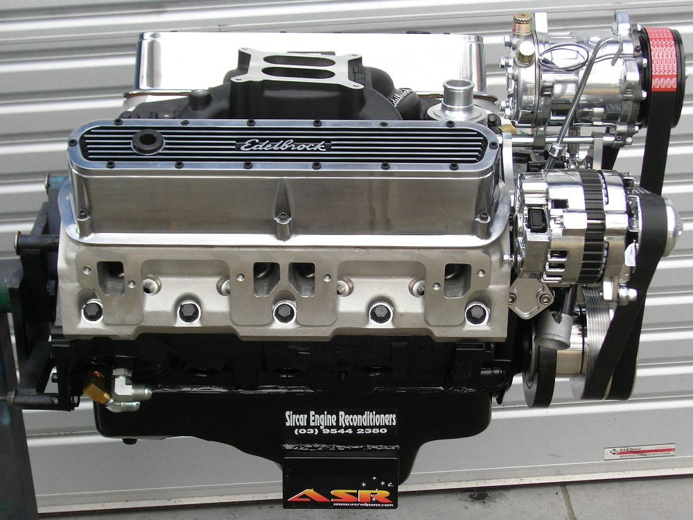 360 Chrysler V8 Engine Side View.