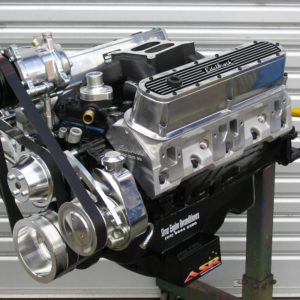 Chrysler 360 Engine with Custom Hydraulic Roller Camshaft, Modified Edelbrock Heads and Inlet Manifold, Pro Magnum Roller Shaft Rockers, etc.