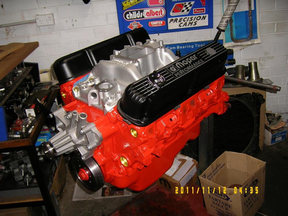 Chrysler 360 V8 Engine. 400 hp.