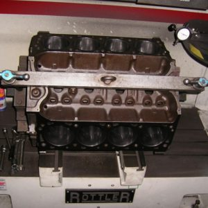Decking a Ford 460ci Engine Block.