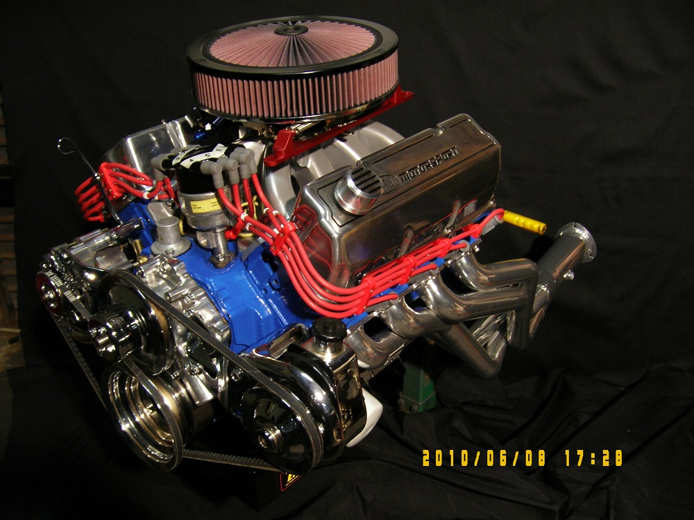 Ford 351 Cleveland 4V Stroker Engine. 4V Heads, 600hp.