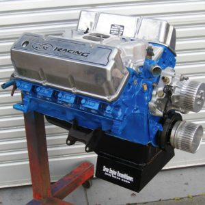 Ford 351 Cleveland Engine Stage 2 Dual Spring Package. Thumper Cam, Milodon Gear Drive, Blueprinted, Big Valves, Torque Plate Bore & Hone, Closed Chamber Heads, Minor Porting.
