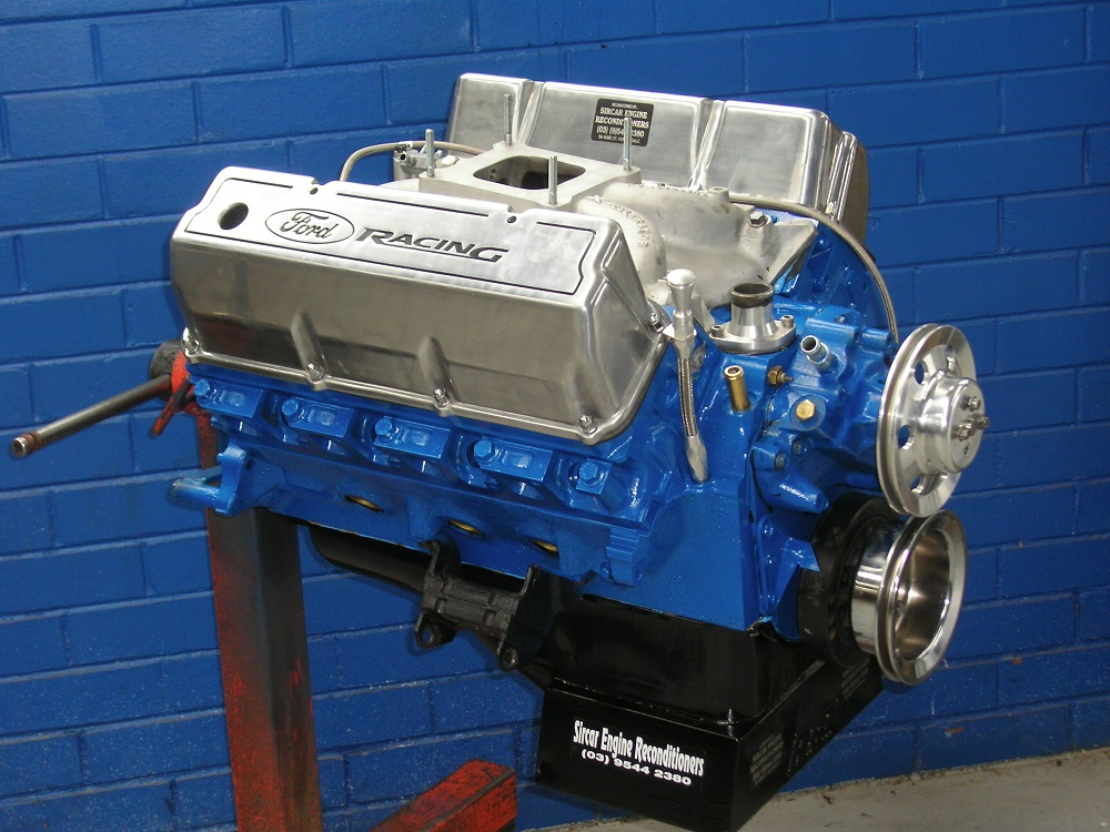 Ford 351 Cleveland Stage 3 Street Engine, Hydraulic Cam, Ported Heads, 450 hp.