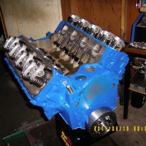 Ford 393 Cleveland 4V Engine. 4V Heads, Hydraulic Roller Cam, 600hp
