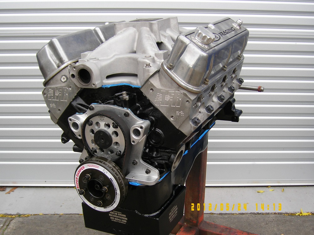 Ford 427 Windsor Stroker Engine set up for E85  Fuel and fitted with a  Roller Cam, Approximately 700 hp.