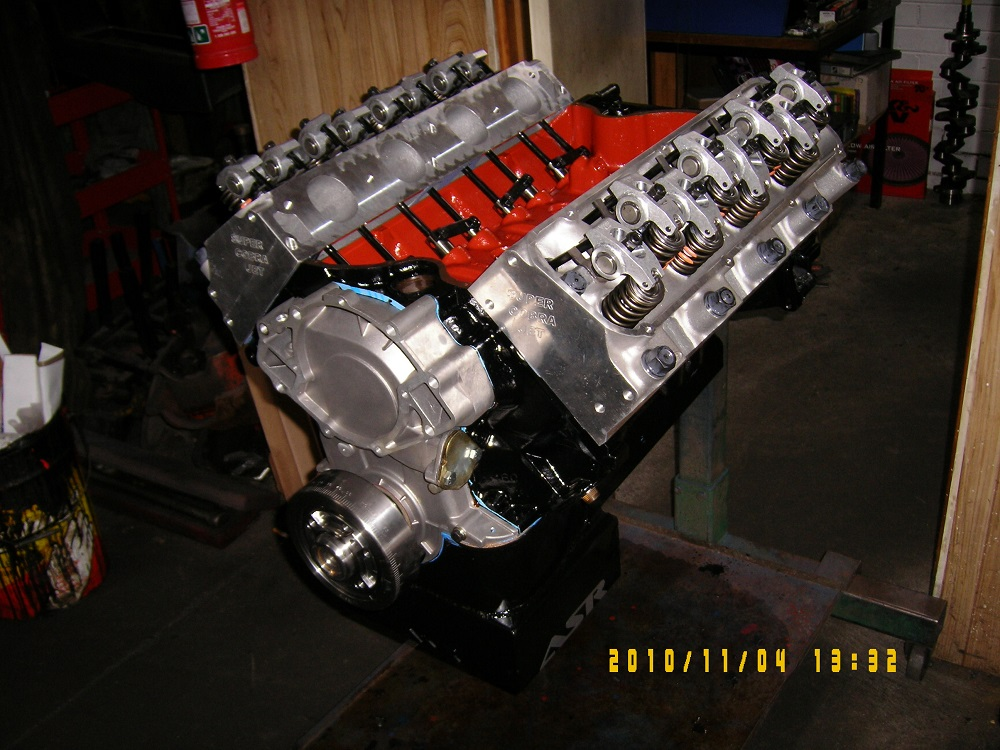 Ford 460 - 545 Stroker Engine with Super Cobra Jet Heads and a Solid Roller Cam, 700 hp.