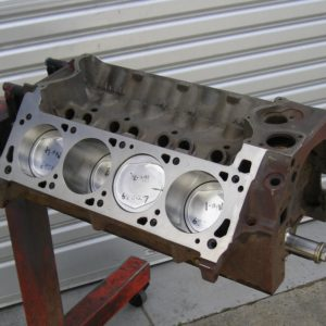 Ford Cleveland 393ci Stroker Short Engine Ready for the Customer to Complete Assembly and Paint.
