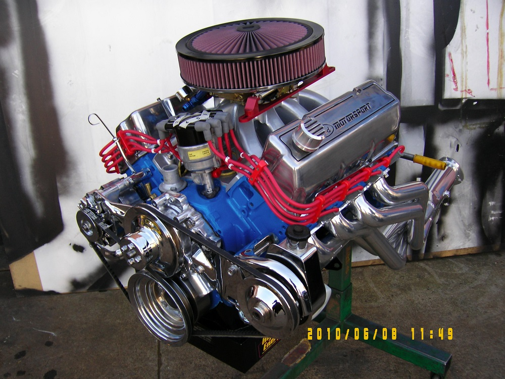 Ford Cleveland 4V Stroker Engine. 378 ci, Solid Cam, 4V heads, 600 hp.