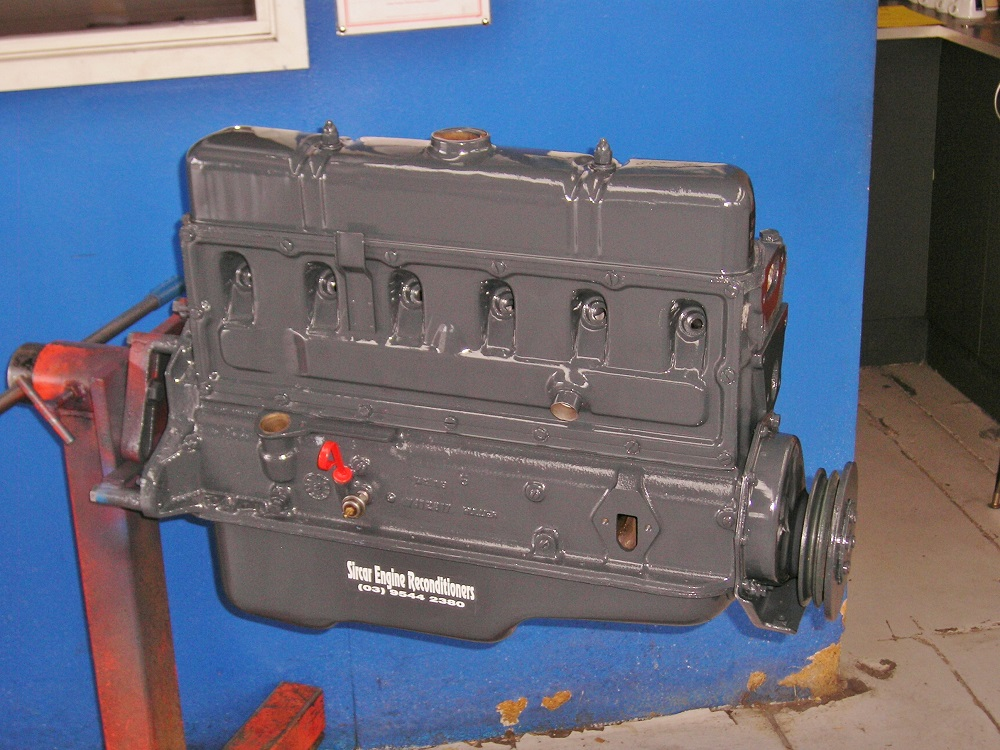 Holden 138ci Grey Motor Reconditioned to Stage 2 Including a Mild Cam, Matching Valve Springs, Balanced, Improved Compression Ratio, Oversize Valves, etc.
