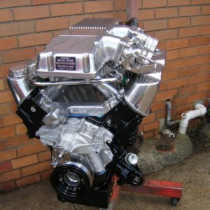 Holden 5.0L Group A Club Racing Engine. Twin Throttle Body, Solid Roller Cam.