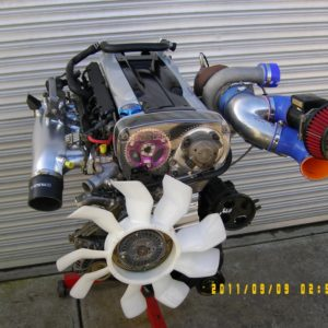 Holden VL Commodore RB30 Turbo Engine with Nissan RB26 Twin Cam Head.