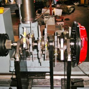 Nissan 300ZX V6 Individual Throw Crankshaft being Dynamically Balanced.