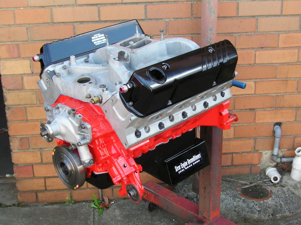 355ci Holden Stroker Sports Engine with Alloy Heads, Balanced, Performance Cam, High Volume Sump, etc.