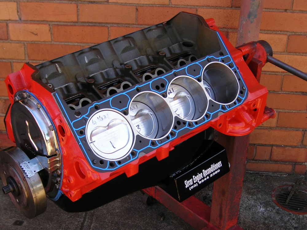 400ci Chev Short Motor Built Entirely from Aftermarket Performance Parts. No Factory Parts used.
