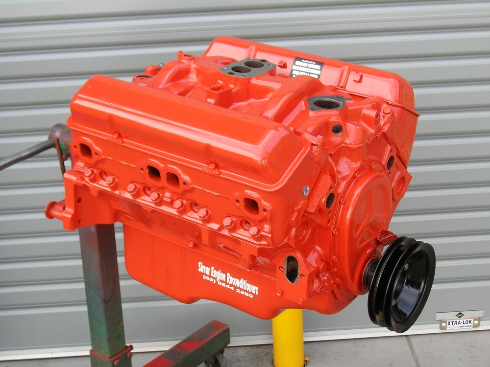 Chevrolet 283ci V8 Engine that is Reconditioned and the Heads Converted for Unleaded Fuel and Balanced.