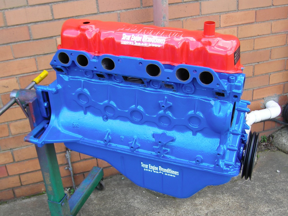 Ford 250ci Non Crossflow Engine with a 2V Cylinder Head Fitted and Reconditioned to a Stage 2 Sports Engine.
