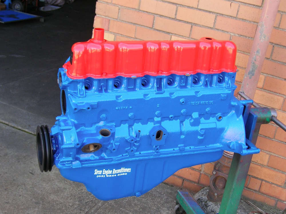 Ford 250ci Pre Crossflow Reconditioned Engine.